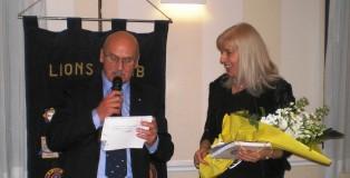 Il presidente Paolo Bergamini con Roberta Sighinolfi