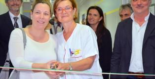 punto nascita mirandola Taglio del nastro - nuova Ostetricia_Mirandola_con Tatiana Scannavinni (futura mamma)