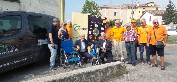 DONATE DUE CARROZZINE ALL'AUSER DI MIRANDOLA