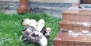 Mirandola - nano da giardino rotto