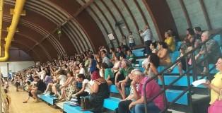 Il pubblico all'evento del centro estivo organizzato dal CUP al Pala Simoncelli il 25 luglio