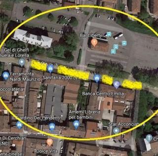 Tratto di viale Circonvallazione compreso tra via Montanari e via Milazzo: lavori in corso per la posa della rete di teleriscaldamento