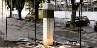 MIRANDOLA: DANNEGGIATO L'ALLESTIMENTO ARTISTICO AL MONUMENTO DI PICO